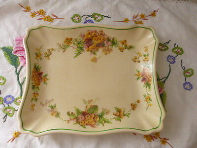 Vintage antique Royal Doulton sandwich plate dinner ware Wattle