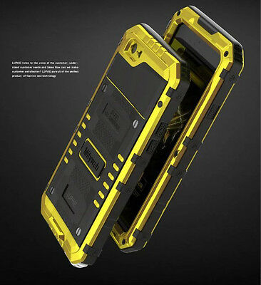 LUPHIE Waterproof Shockproof Armor Gorilla Glass Case Cover For iPhone XS 7 Plus