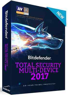 NEW YEAR SALE: Bitdefender Total Security Multi Device 2017 - 5 Devices - 1 Year