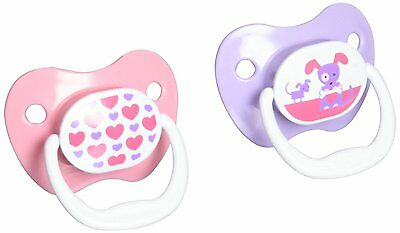 Dr. Brown's PreVent Classic Pacifier Stage 1 (0-6m), Unique Pink/Purple, 2-Pack