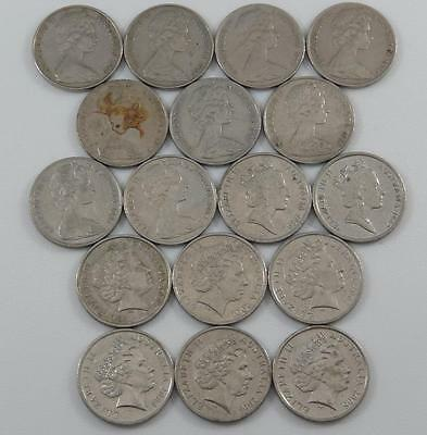 Australia 1966 - 2006 10 Cents 17 Coin Lot All Different Superb Lyre-Bird A0845