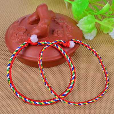 1PC Tibet Diy Buddhism Colours Vajra rope Weaving Amulet Bracelet Wholesale