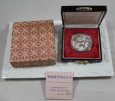 China 1987 GEM Proof 10 Yuan 999 Fine 1oz Silver Panda Coin w/ Box & COA CB037