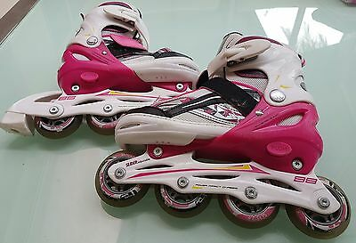 Girls BladeX Slider Adjustable Inline Skates Size 2 to 4