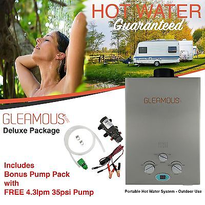 Instant LPG Portable Gas Hot Water Camp Shower Heater 4WD Caravan Horse Pet