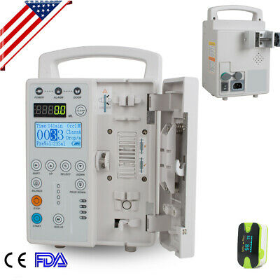 Medical Syringe Infusion Squirt Pump IV&Fluid Equipment Audible Alarm LCD USA+
