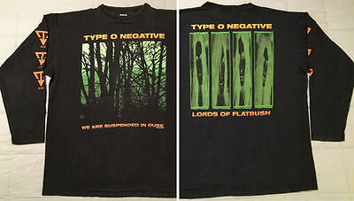 1995 Type O Negative Long Sleeve T-Shirt L/XL Suspended In Dusk Vtg peter steele