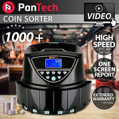 PanTech LCD Australian Coin Sorter Machine Automatic Electronic Counter PLS