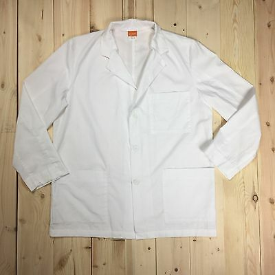 Prima Baico White Lab Coat Size Medium Long Sleeve Button Men's Women's Unisex