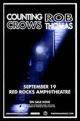 Rob Thomas  & Counting Crows Red Rocks 2016  Denver CO 11x17 TOUR Poster