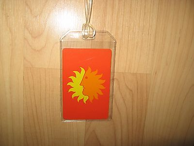 National Airlines Luggage Tag - Vintage NAL Sun Logo Playing Card Suitcase Tag