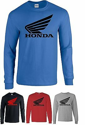 HONDA t-shirt motorcycle cbr wing crf 1000 600 Cool t shirt S-XL Long sleeve
