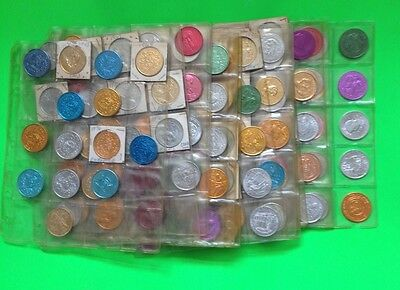 Vintage Mardi Gras Tokens Lot of over 250 - Late 60's thru early 70's - All Krew
