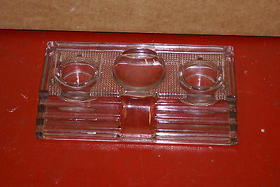 Antique 1912 Glass Stepped Ink Well Paragon 170 Art Deco Writing