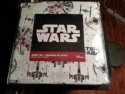 Classic Star Wars Cotton Sheet Double Set -100% Cotton - Vehicles Collection