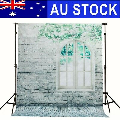 5ftx7ft Brick Wall Window Vinyl Photography Backdrop Photo Background Props AU
