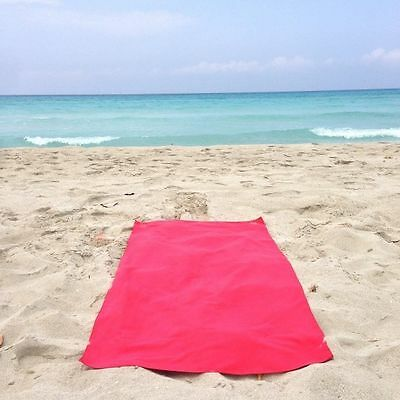 Large Microfibre Beach Bath Towel Sports Travel Camping Gym Lightweight Red