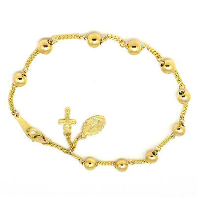14k Gold Rosary Bracelet 5mm Ball By Estherleejewel