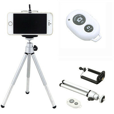Tripod Stand Holder + Bluetooth Remote Control For Mobile Phone Samsung iPhone B
