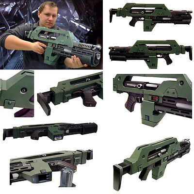 Aliens M41-A Rifle Pulse 1:1 Paper Model Cosplay 3D Printed Life Size Assault