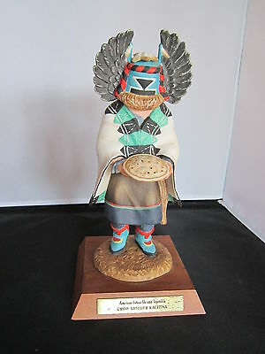 "Neil David ""Crow Mother"" Porcelain Kachina, Signed Amer Indian Life & Legends"