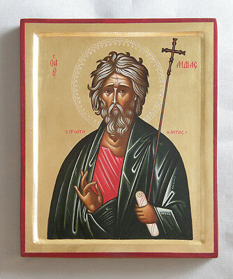 Hand painted orthodox icon of Apostle Andrey