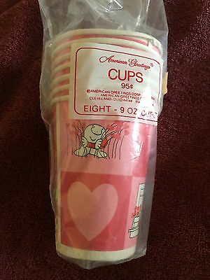 Vintage Rare Ziggy 1981 Heart Cups And Napkins