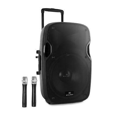 Malone Portable Pa Speaker System 450W Rms Public Speaking Dance Classes Usb Sd