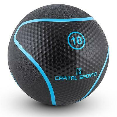 Medicine Ball Gym Exercise Strength Weights Cross-Training Workout 10Kg Black