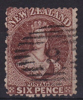 New Zealand 6d Brown FFQ Chalon good used.