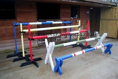 Pony Horse training show jump set, by Bristol Show Jumps WITH KEYHOLE TRACKS