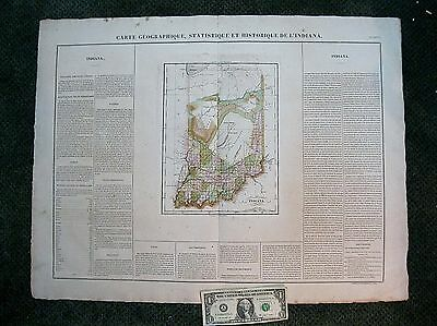1825 Buchon Indiana Map w/ Text -Original & Color