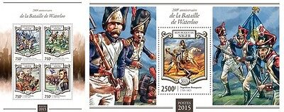 NIG15112ab Niger 2015 Battle of Waterloo MNH SET