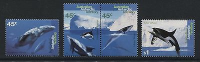 Australian Antarctic Territory: 1995 Whales set of 4 stamps SG108-111 MNH AC177
