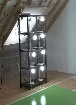 16 X B&Q Shelley White Desk Lamps Fitted With LED daylight bulbs