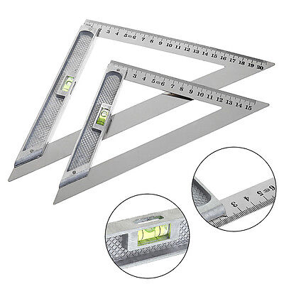 15cm/20cm Triangle Ruler 90° with Bead Horizontal Woodworking Measuring Tool Hot