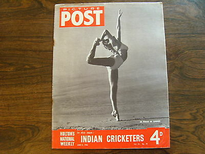 PICTURE POST - 8th JUNE 1946 - Vol. 31  Number 10 - INDIAN CRICKETERS