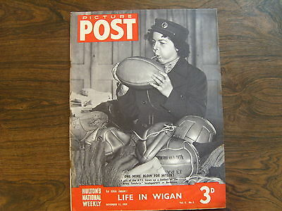 PICTURE POST - 11th NOVEMBER 1939 - Vol. 5  Number 6 - LIFE IN WIGAN