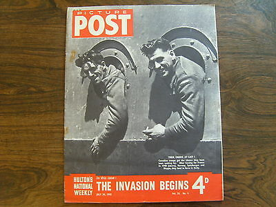 PICTURE POST - 24th JULY 1943 - Vol. 20  Number 4 - THE INVASION BEGINS