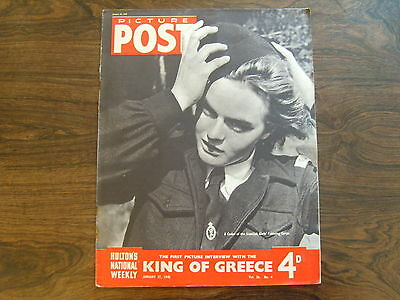 PICTURE POST - 27th JANUARY 1945 - Vol. 26  Number 4 - KING OF GREECE