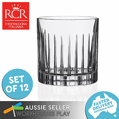12x RCR Timeless Glass Tumbler 313ml Premium Italian Crystal
