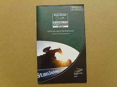 2006 KEMPTON OFFICIAL RACE CARD - 26th DECEMBER 2006 -KAUTO STAR 1st KING GEORGE