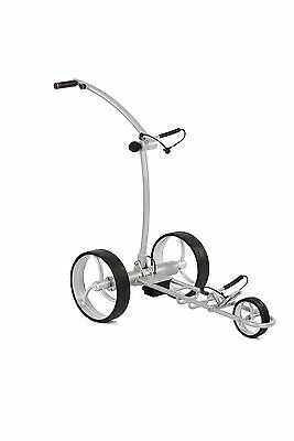 Elektro Golftrolley Falcon in Silber von Leisure Golf