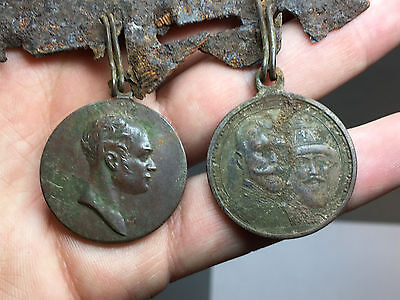 2 Rare Imperial Russia From Wwii Battle Order Medals 100% Original
