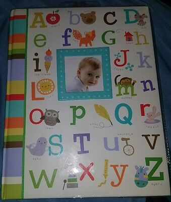 Baby's First Memory Keepsake Girl/Boy Book Alphabet & Pictures Stepping Stones