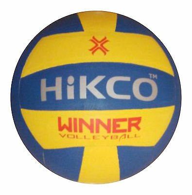Hikco Moulded Blue Volleyball Soft indoor Training Ball, 18 Panels Size 5