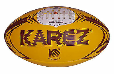 Karez Hand Stitch PVC 2 Ply Rugby Training Ball For Kids ,4 Panel- Size 5