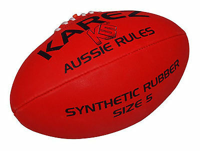 Karez 3 Ply Synthetic Rubber Hand Stitch Training Rugby Ball ,4 Panel- Size 5