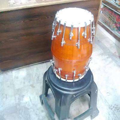 "brand""new dholak mango wood""bolt""fitting,dhollki nice sound. BHAJAN DHOLKI DHOL"