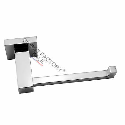 Toilet Paper Roll Holder Wall Hook Stainless Steel Chrome Silver Ring Bathroom